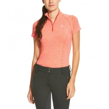 Ariat Odyssey Seamless Short Sleeved 1/4 Zip Top