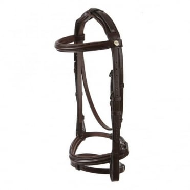 Jeffries Wembley Pro Flash Bridle with Rubber Reins