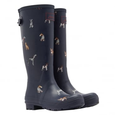 Joules Ajusta Back Gusset Printed Wellies