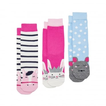 Joules Junior Neat Feet Socks (3 Pack)