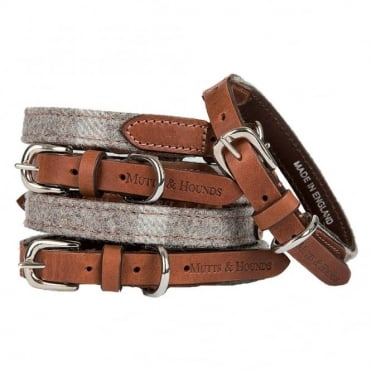 Mutts & Hounds Slate Tweed Dog Collar