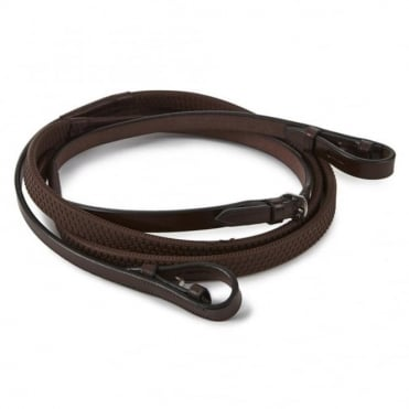 Wembley Nylon Lined Rubber Grip Reins
